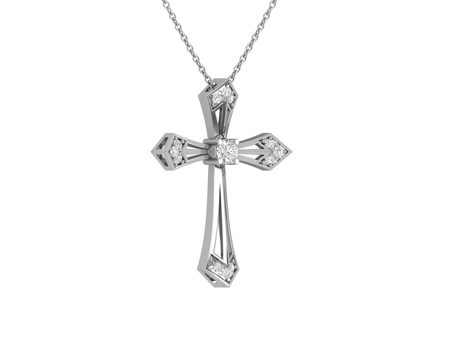 Diamond Cross Necklaces