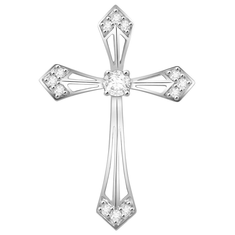 'Vera' - Diamond Cross Pendant