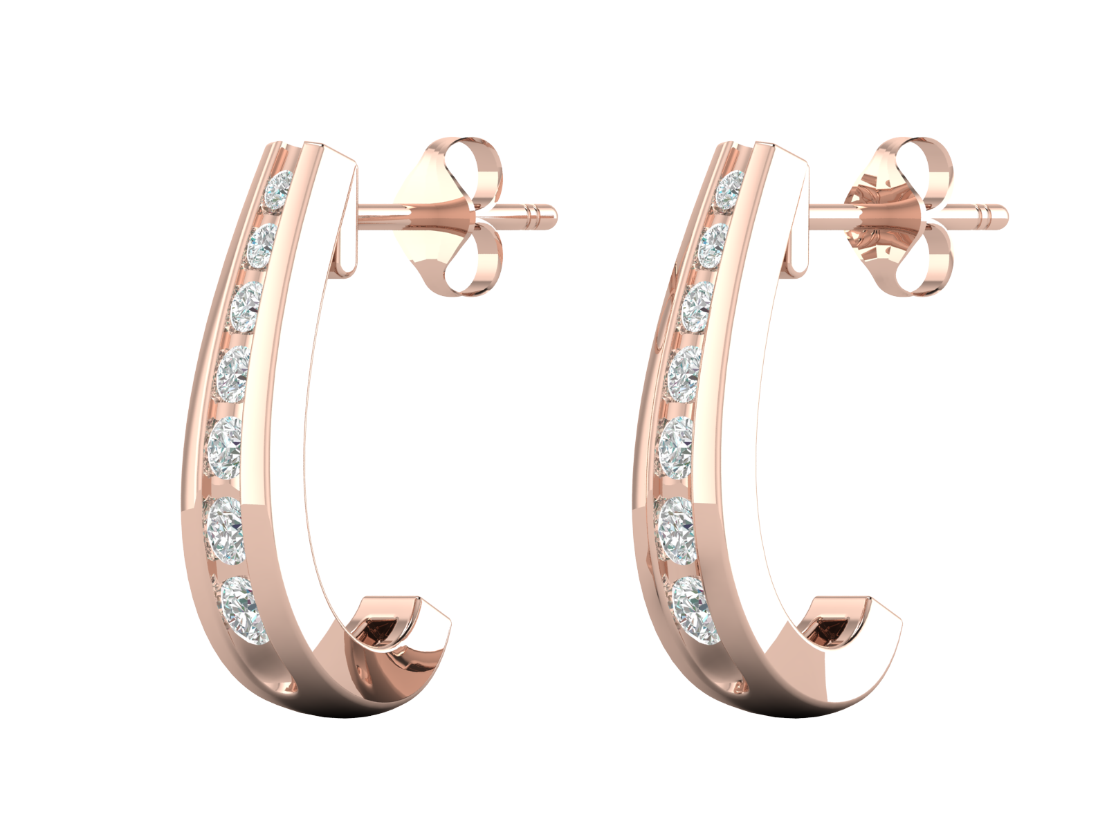 Olivia - Diamond Hoops