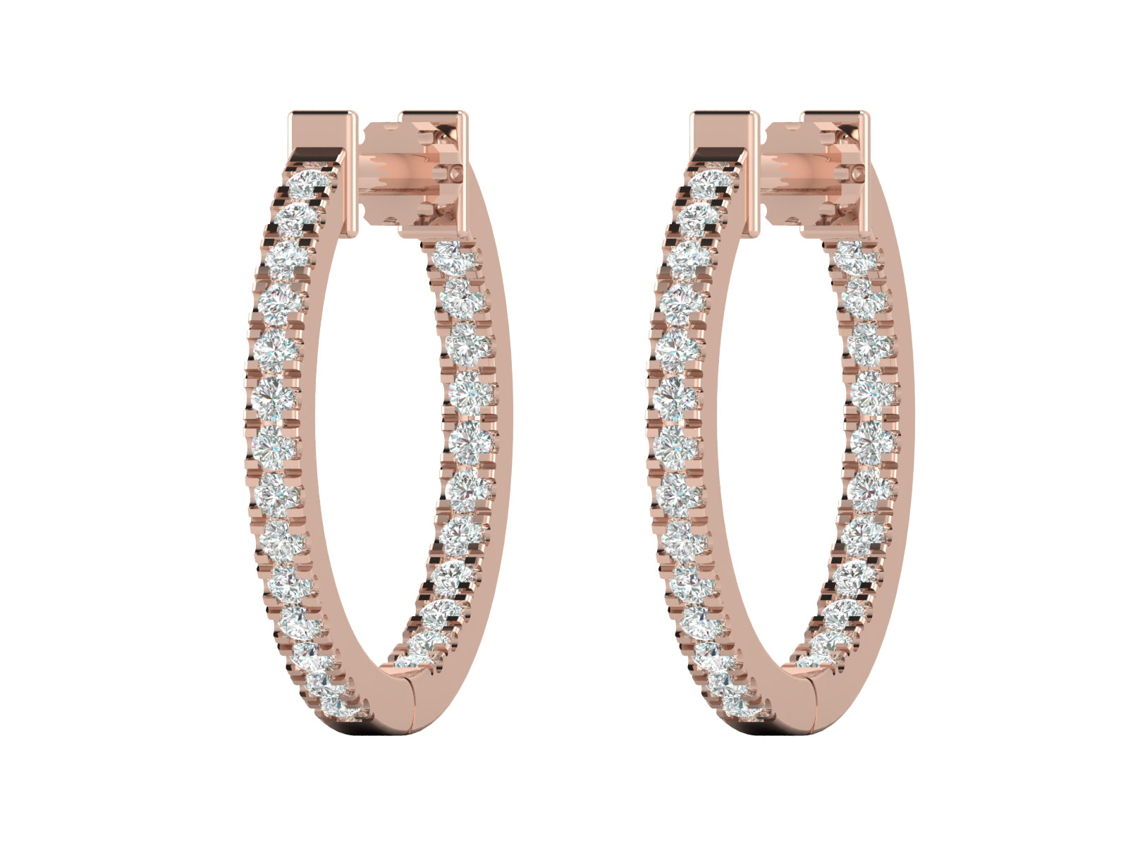 Doora - Inside-Out Diamond Hoops