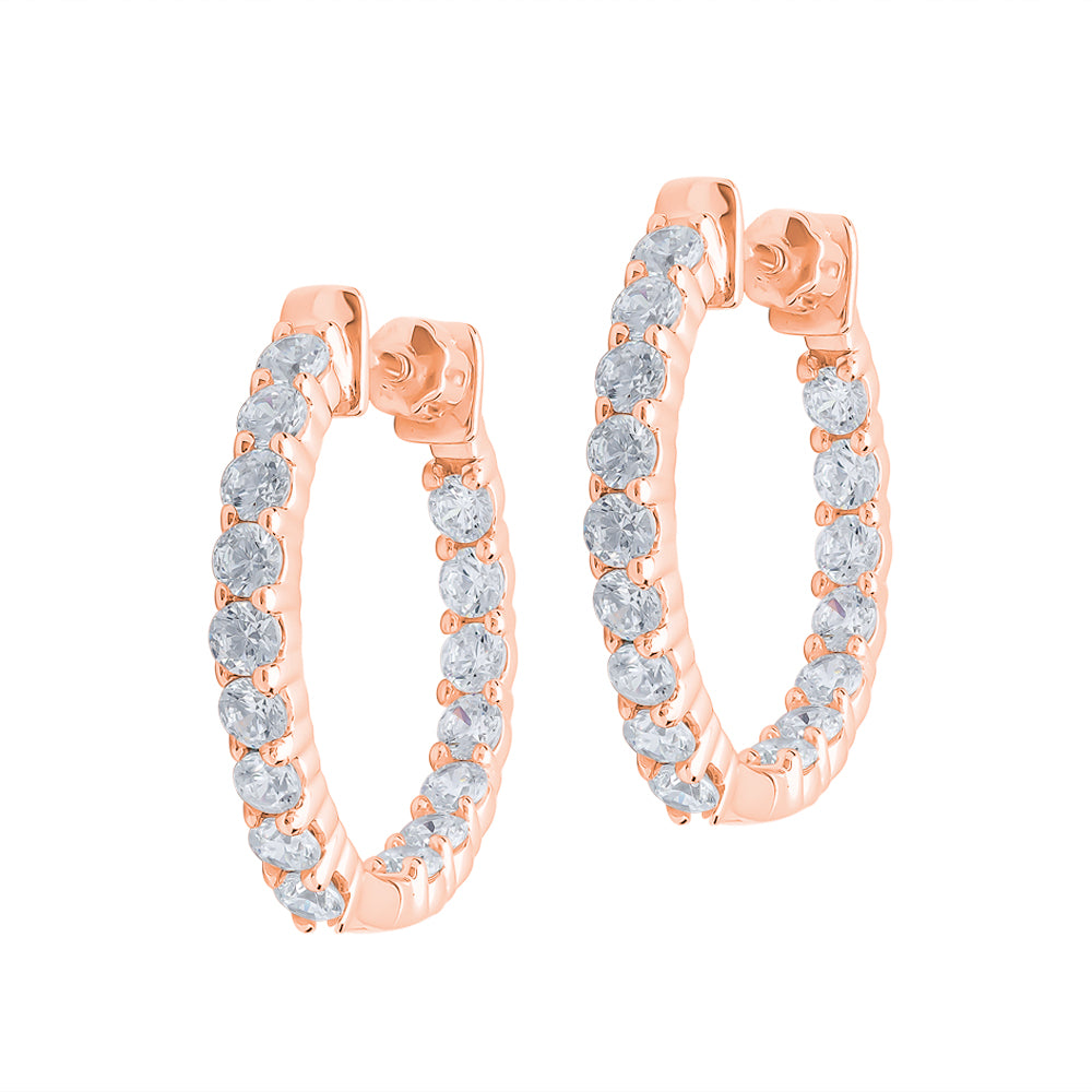 Aiko - Diamond Hoop Earrings