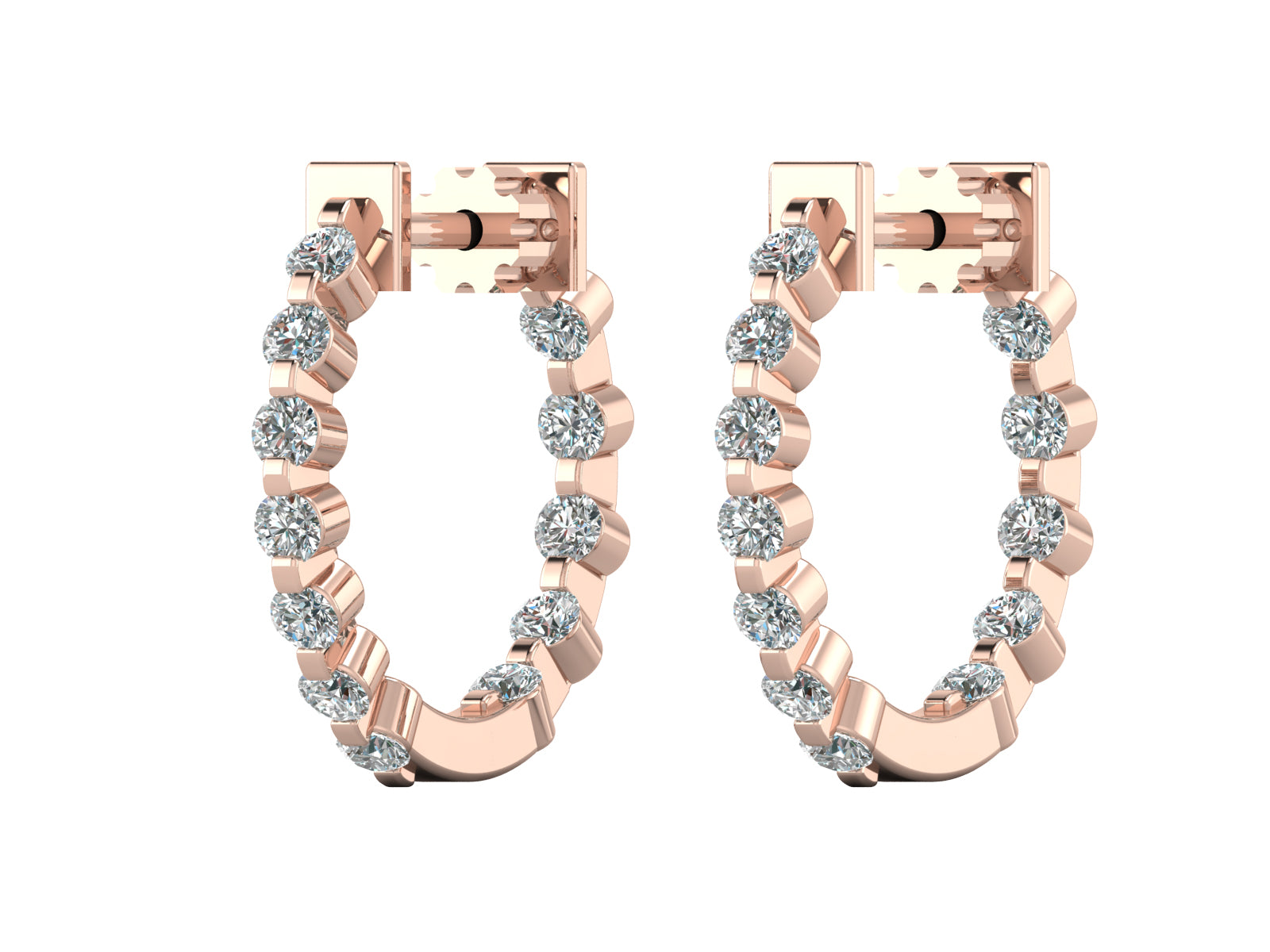 Clara - Inside-Out Diamond Hoops