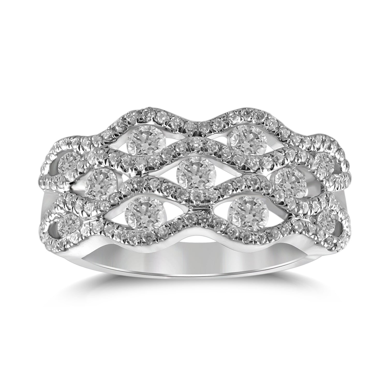 Gemma - Dome Top Diamond & Gemstone Band