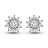 'Etoile' - Diamond Star-Halo Stud Earrings