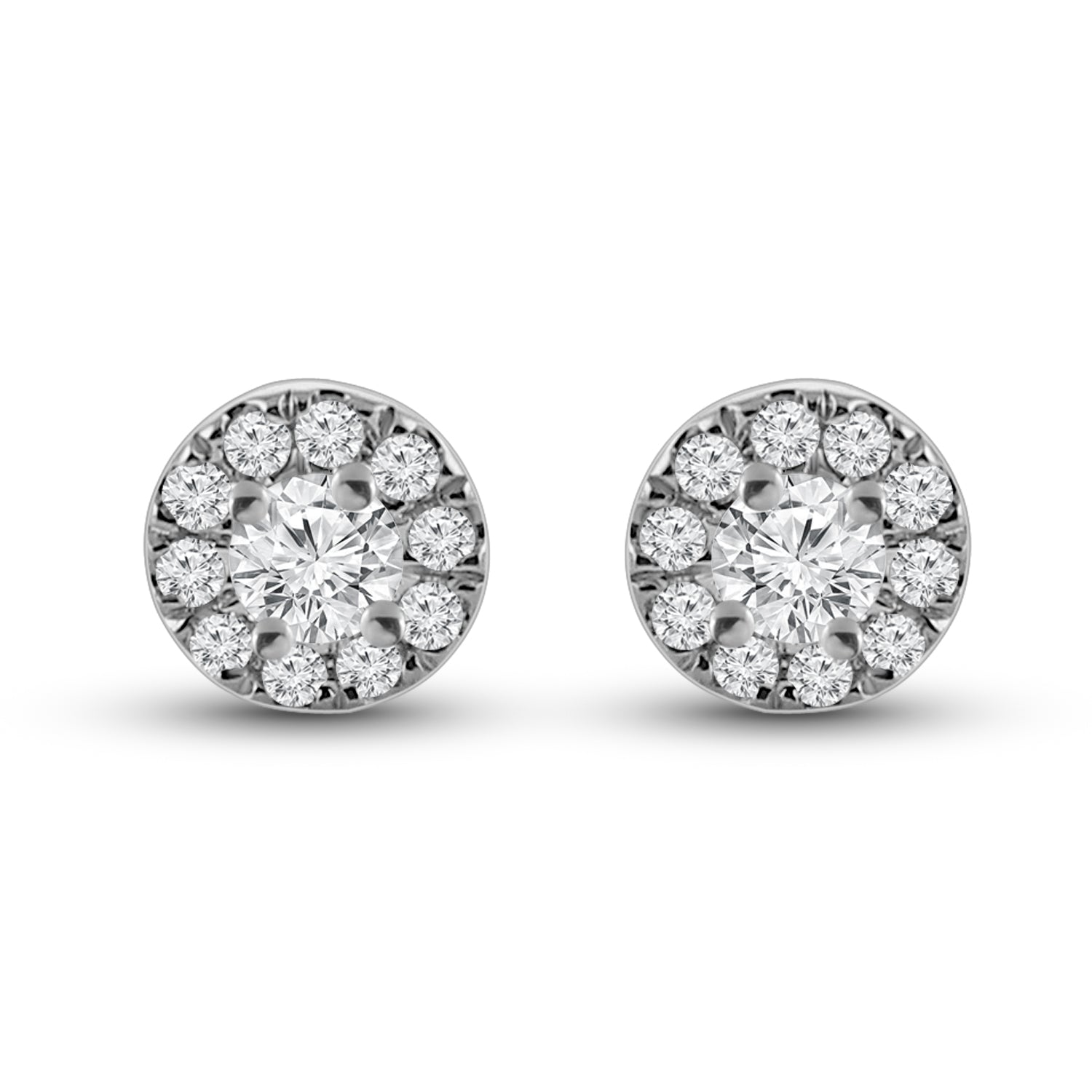 Aura - Diamond Halo Stud Earrings