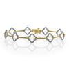 'Fortuna' - Diamond Open Clover Bracelet
