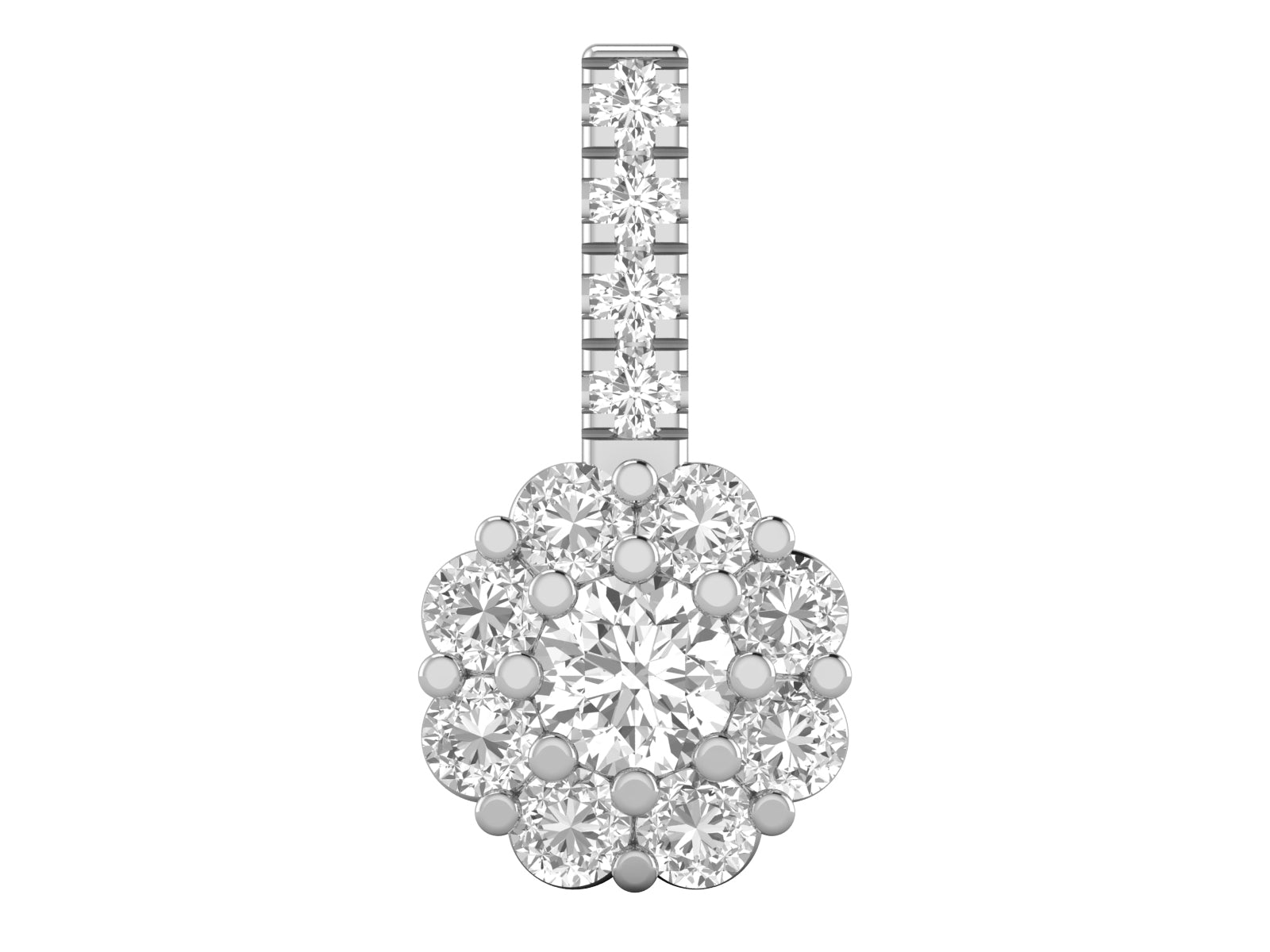 Flor - Brilliant Diamond Pendant