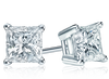 Princess Cut Diamond Stud Earrings - Premier Quality