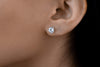 Round Brilliant Diamond Stud Earrings