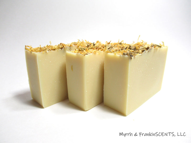 Chamomile, Carrot & Calendula Face & Body Bar | Handmade Soap