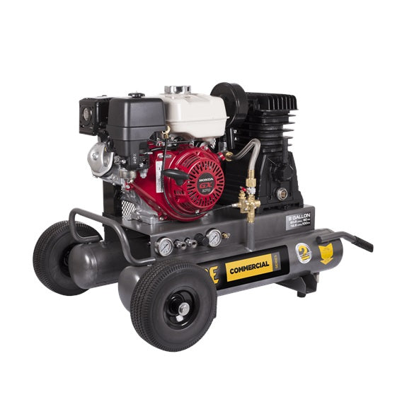 BE 8 Gallon 20.5CFM Gas Air Compressor - Wheelbarrow Style