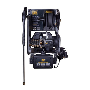 BE 1.5HP 1500 PSI 2-in-1 Wall Mount Pressure Washer