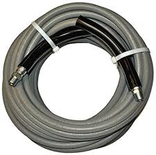 3/8 50' Non-marking gray pressure washer hose (2 wire) - PressureCity
