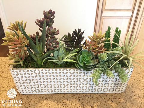 Unique Concrete Faux Succulent Planter