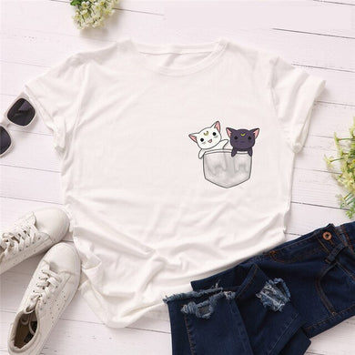 Pocket Kittens T-shirt - MyTopCat