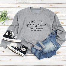 Load image into Gallery viewer, Overthinking and Hungry Sweatshirt - MyTopCat