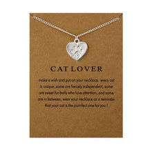 Load image into Gallery viewer, Cat Lover Charm Necklace - MyTopCat