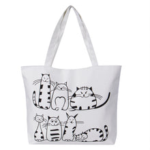 Load image into Gallery viewer, Cartoon Cat Canvas Bag - MyTopCat