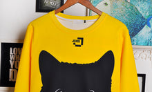 Load image into Gallery viewer, Two-Tone Black Cat Sweatshirt - MyTopCat