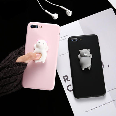 Squishy Sleeping Cat iPhone Case - MyTopCat