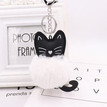 Load image into Gallery viewer, Fluffy Cat Keyring - MyTopCat