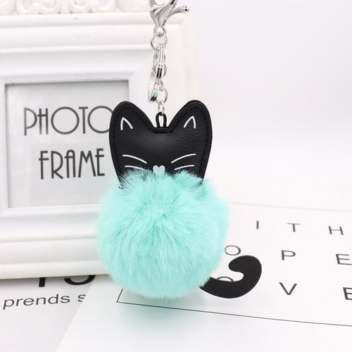 Fluffy Cat Keyring - MyTopCat