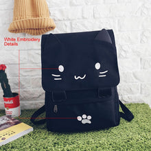 Load image into Gallery viewer, Canvas Cat Backpack - MyTopCat