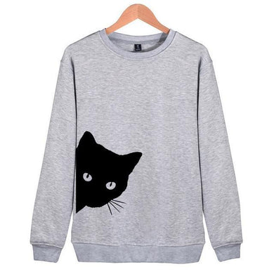 Peeking Cat Sweatshirt - MyTopCat