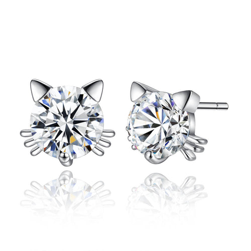 Diamond Cat Earrings - MyTopCat