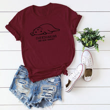 Load image into Gallery viewer, Overthinking and Hungry T-shirt - MyTopCat