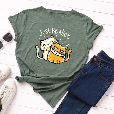 Just Be Nice T-shirt - MyTopCat