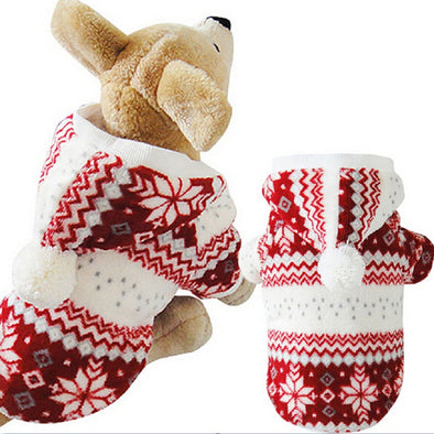 Winter Pet Clothes Cozy Snowflake