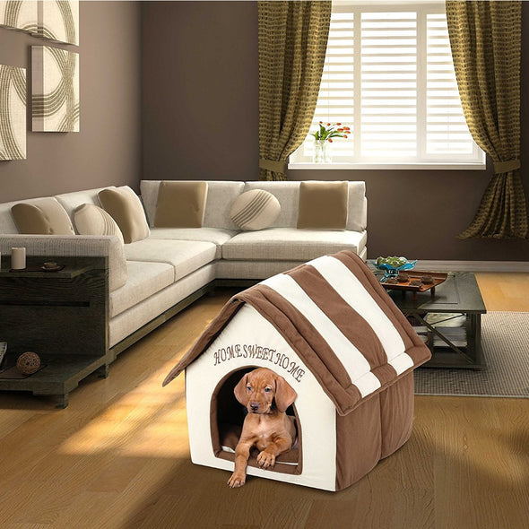 Plush Pet House Bed