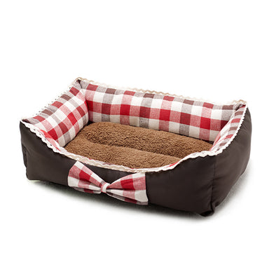 Bowknot Lace Pets Bedding