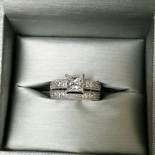Calista Sterling silver ring set