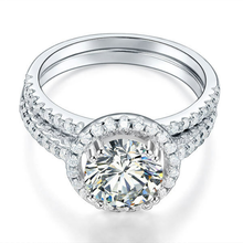 Load image into Gallery viewer, AMELIA💎925 sterling silver stimulated diamond ri