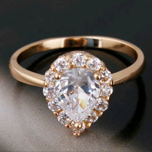 Load image into Gallery viewer, 18k gold filled ring With Swarovski Crystals