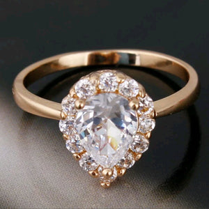 18k gold filled ring With Swarovski Crystals
