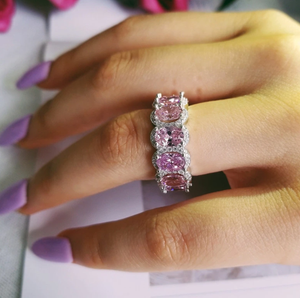 MUSCAT Sterling silver ring In Pink