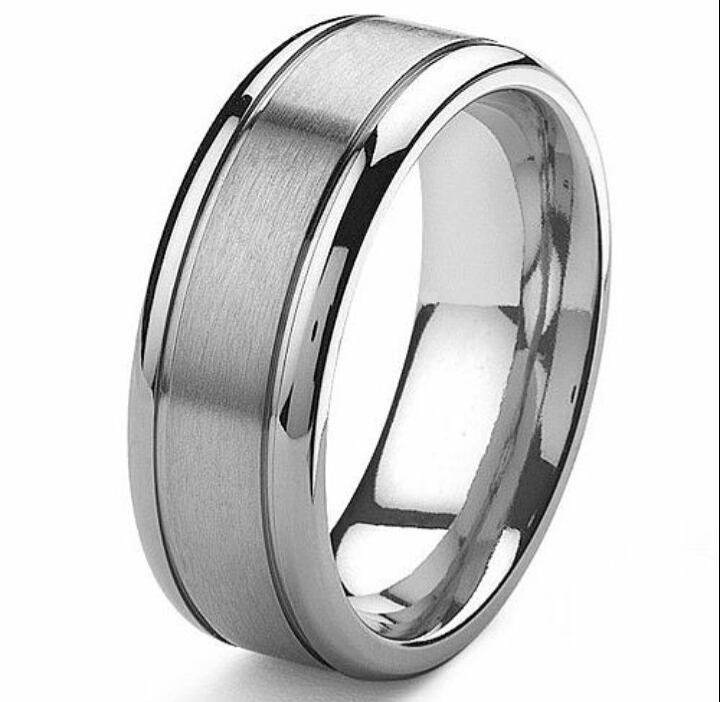 mens titanium wedding/anniversary ring -without engraving