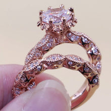 Load image into Gallery viewer, ALOHA Rose Gold Filled Ring Set