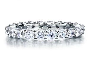 925 sterling silver simulated diamond band