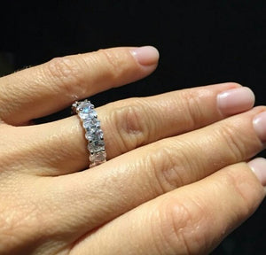925 sterling silver stimulated diamond ring