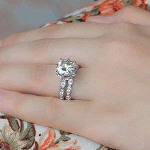 925 Sterling silver simulated dmnd set + Engravin