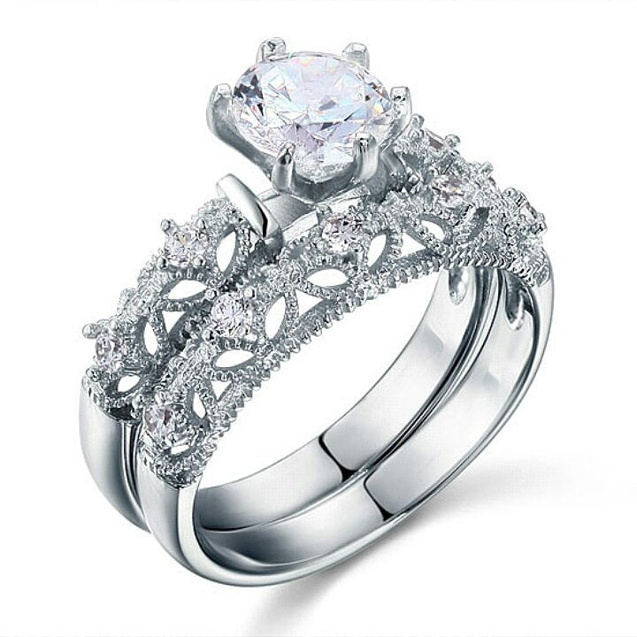 Ella💎925 sterling silver stimulated diamond Set