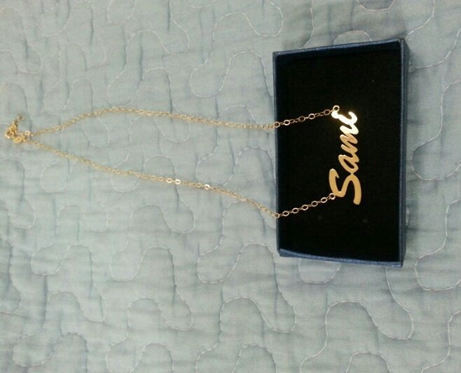 Personalised Sterling silver name chain