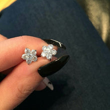 Load image into Gallery viewer, 18k white gold cz diamond studs