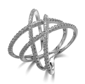 ZEPHYRA ring  In White Gold