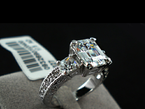 18k white gold filled cz diamond ring
