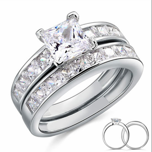 925 sterling silver stimulated diamond 2 piece Set